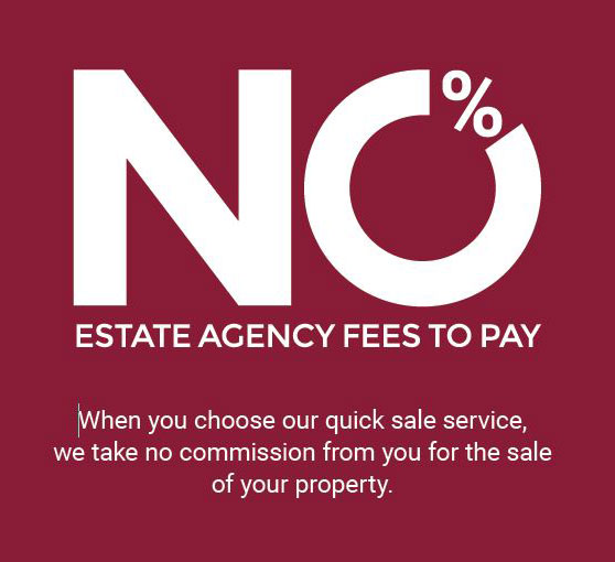 No estate agency fees to pay with Fenicks Estate Agents